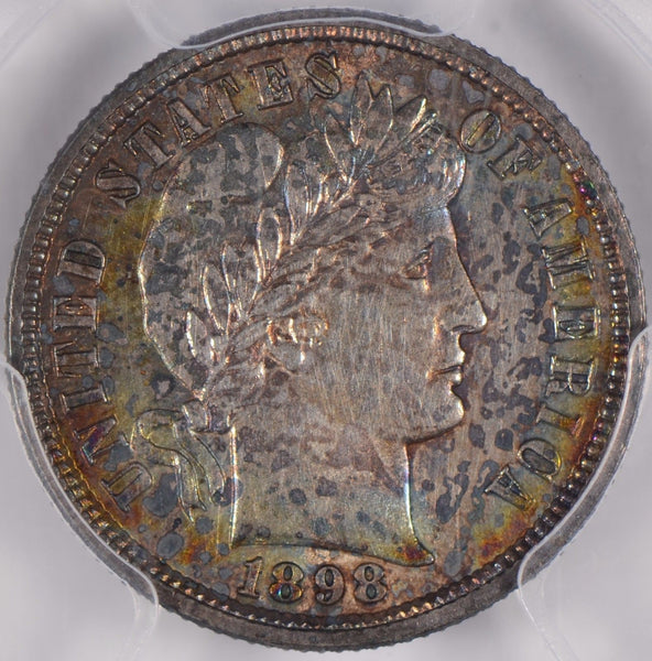 1898 Barber Dime PCGS Genuine Cleaning - UNC Details #140429