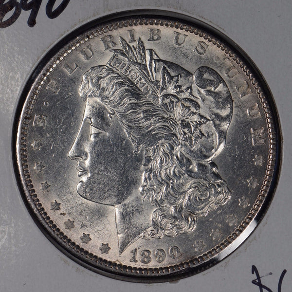 1890 $1 Morgan Silver Dollar Mint State #161319