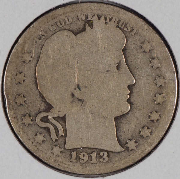 1913 Barber Quarter About Good