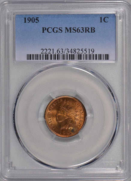 1905 Indian Cent PCGS MS-63 RB #177172
