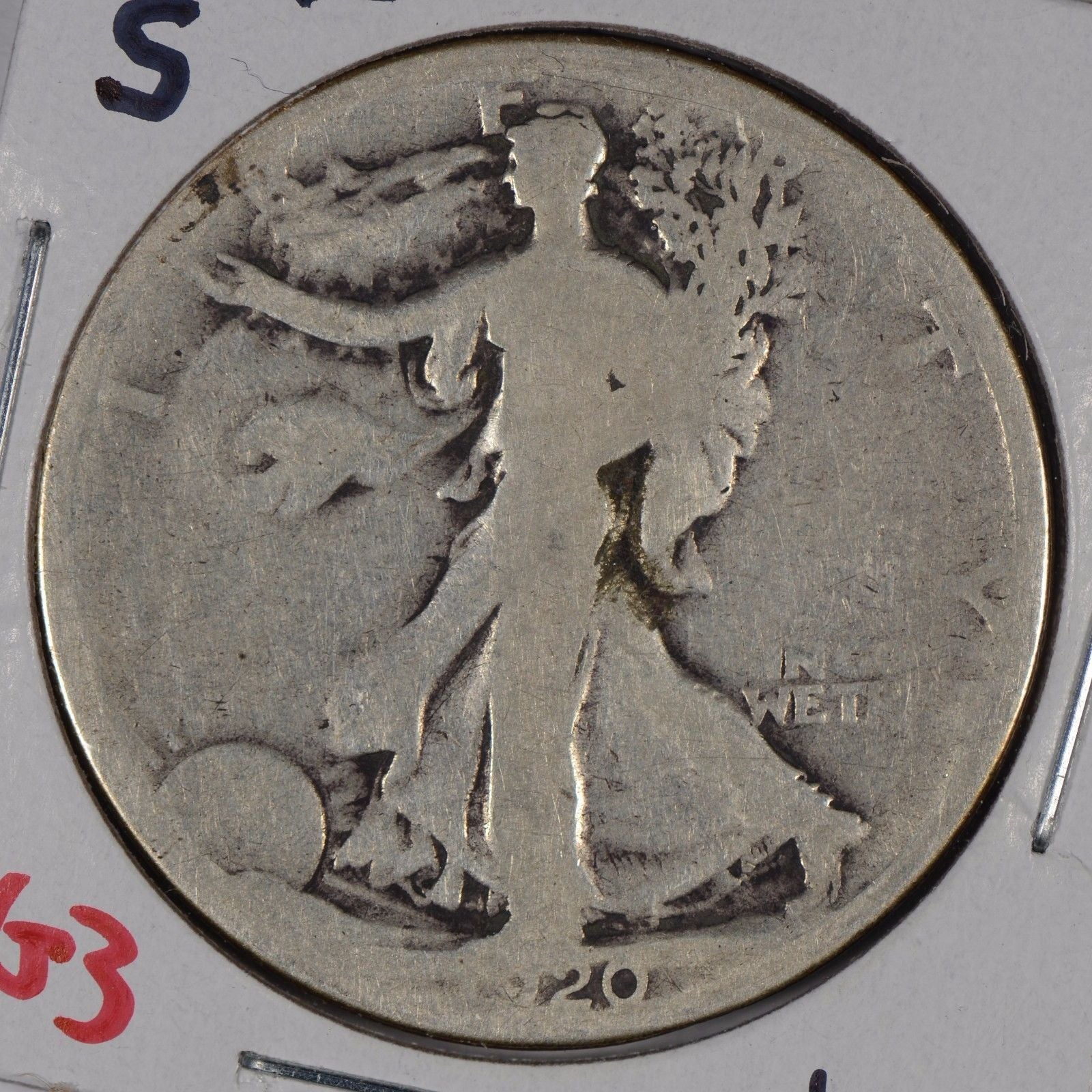 1920-S Walking Liberty Half Dollar About Good