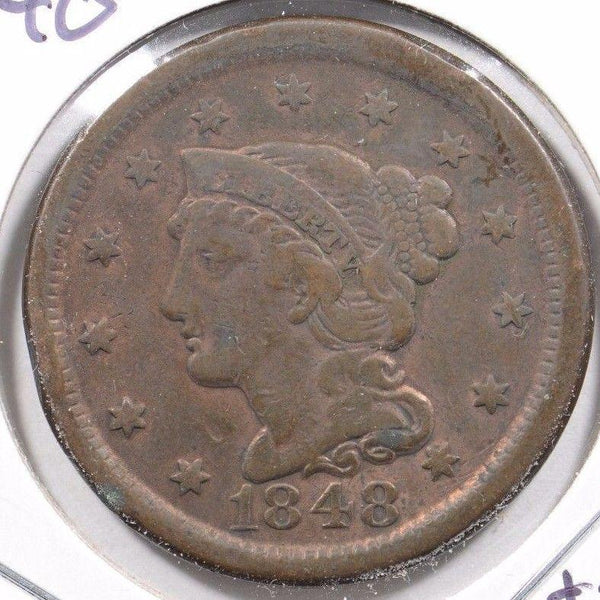 1848 Braided Hair Cent Fine Condition