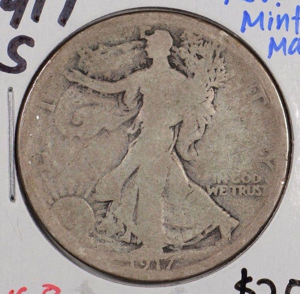 1917-S Walking Liberty Half Dollar Reverse MM Very Good #164855