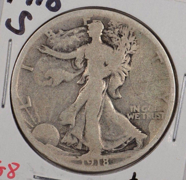 1918-S Walking Liberty Half Dollar Very Good