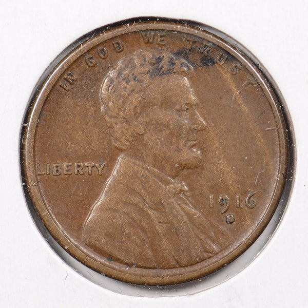 1916-S Lincoln Wheat Cent Extra Fine
