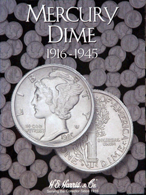 Mercury Dimes Harris Folder 1916-1945