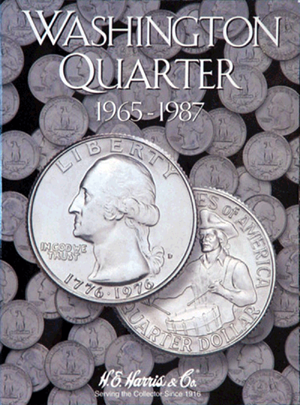 Washington Quarters Harris Folder #3 1965-1987