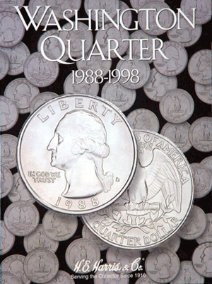 Washington Quarters Harris Folder #4 1988-1998