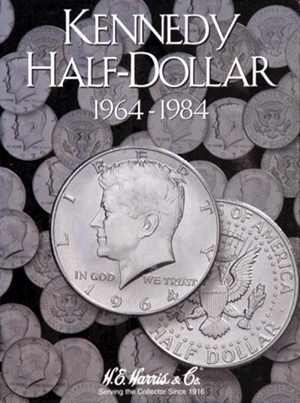 Kennedy Half Dollars Harris Folder #1 1964-1984