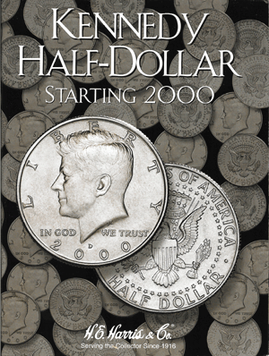 Kennedy Half Dollars Harris Folder #3 Starting 2000