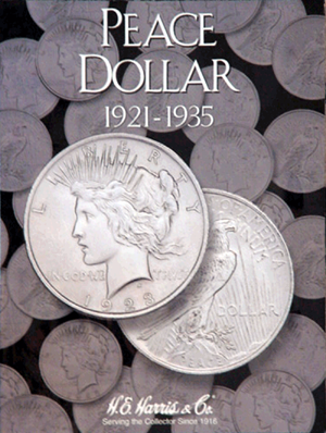 Peace Dollars Harris Folder 1921-1935