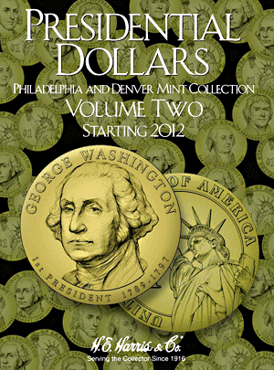 Presidential Dollars Whitman Folder Volume II
