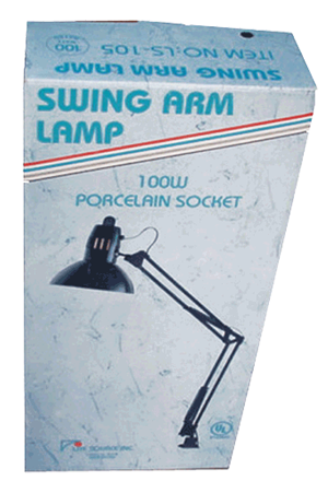 Swing Arm Lamp with Table Clamp