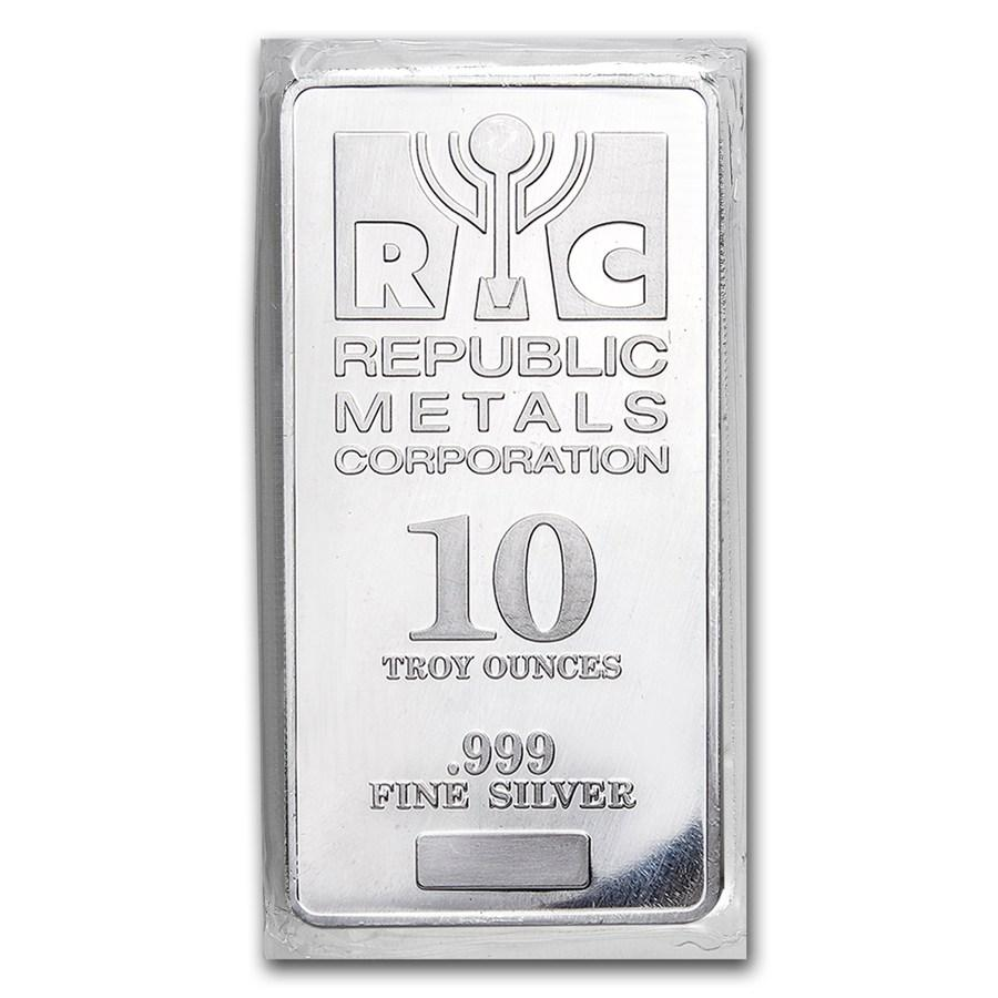 10 oz Silver Bar - Assorted Brands