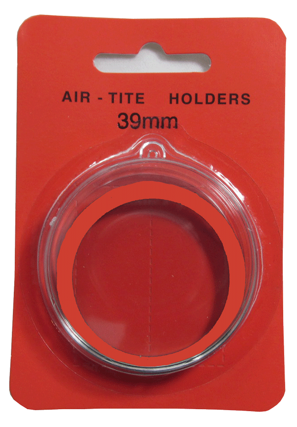 Air Tite 39mm Retail Package Holders - Ornament Red