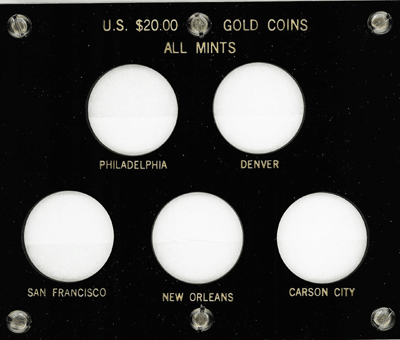 All Mints U.S. $20.00 Gold Coins
