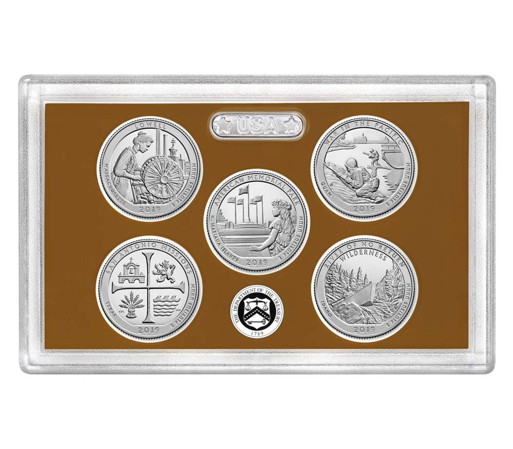 2019 America the Beautiful Quarters Proof Set
