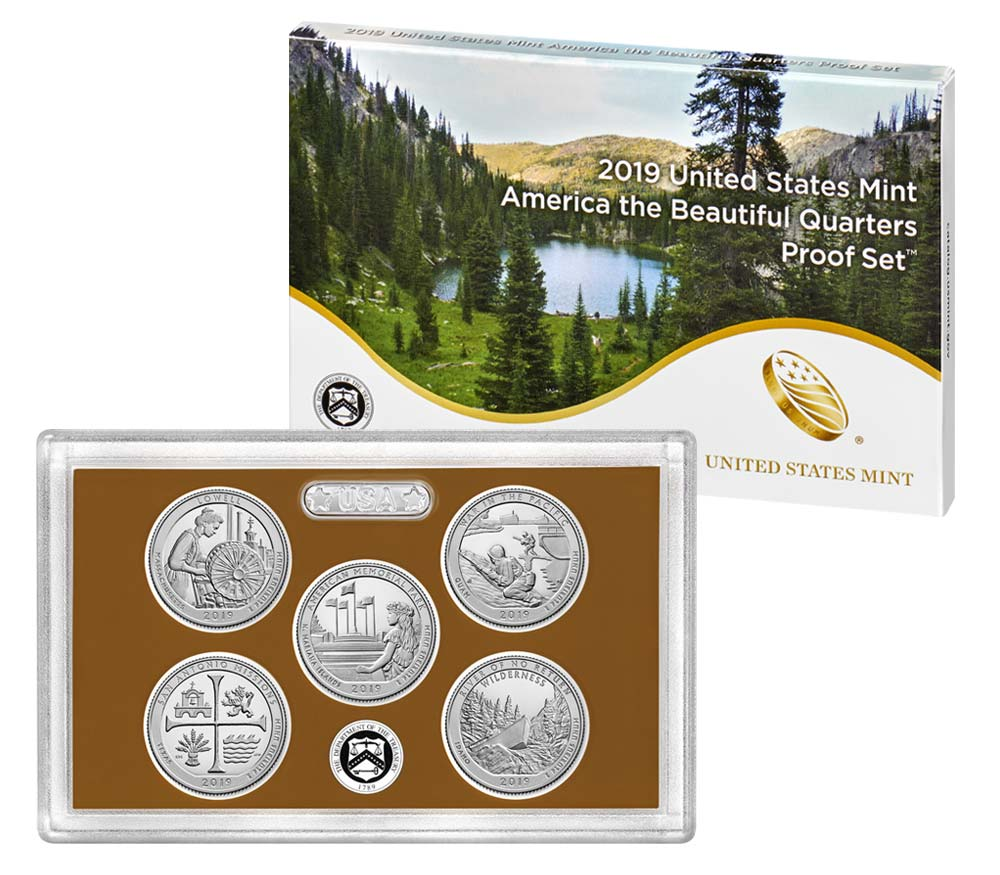 2019 U.S. Proof Set, America The Beautiful Quarters