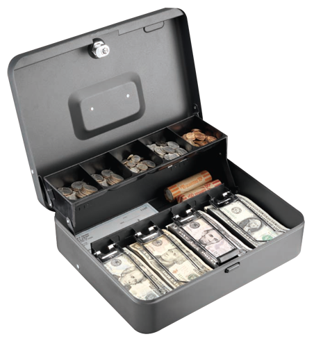 Anti-Theft Security Tiered Cash Box with Bill Weights
