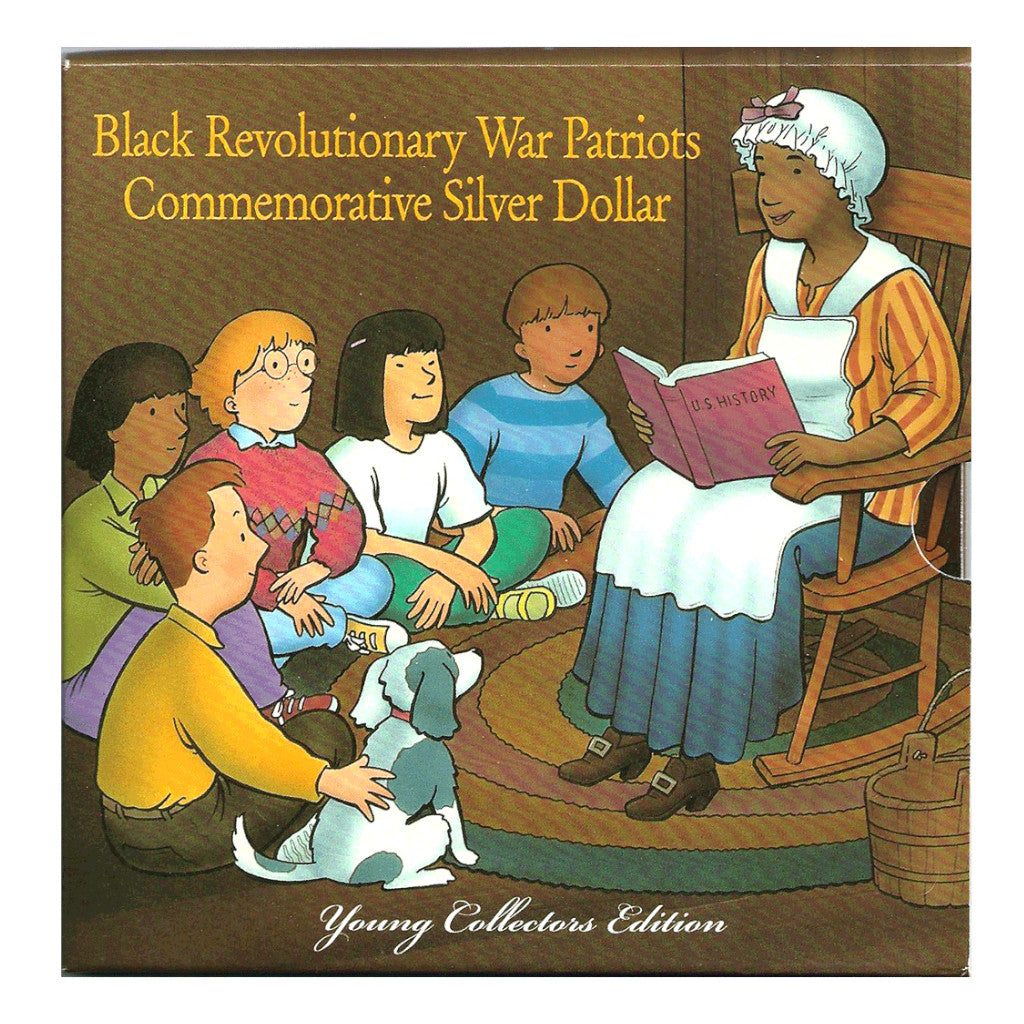 1998 Young Collectors Silver Commemorative Dollar Black Revolutionary War Patriots