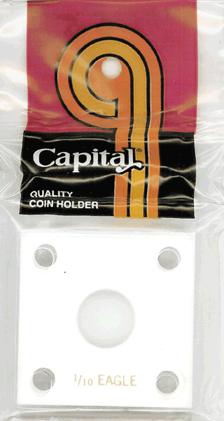Capital Plastics 144 Coin Holder - 1/10 oz. Eagle