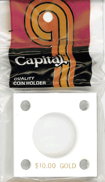 Capital Plastics 144 Coin Holder - $10 Gold