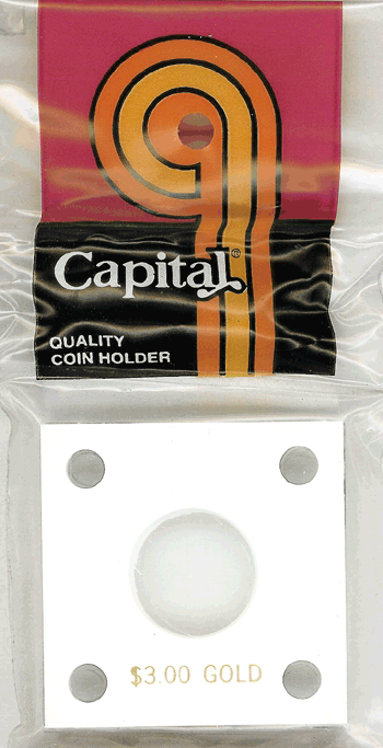 Capital Plastics 144 Coin Holder - $3.00 Gold