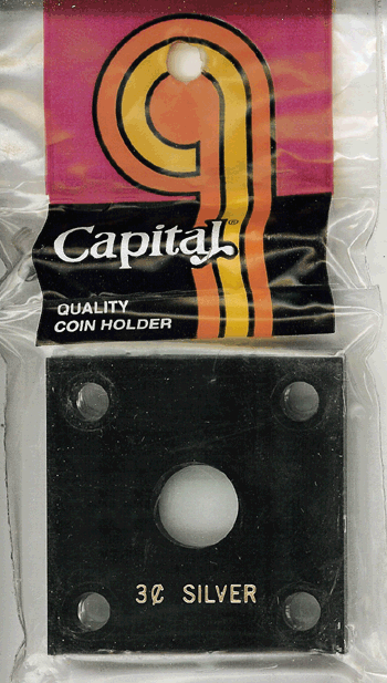 Capital Plastics 144 Coin Holder - 3c Silver
