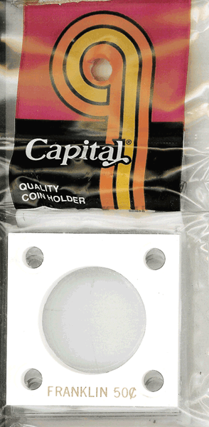 Capital Plastics 144 Coin Holder - Franklin 50c