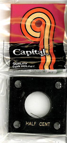 Capital Plastics 144 Coin Holder - Half Cent