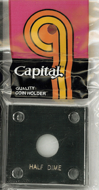 Capital Plastics 144 Coin Holder - Half Dime