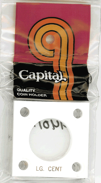 Capital Plastics 144 Coin Holder - Large Cent