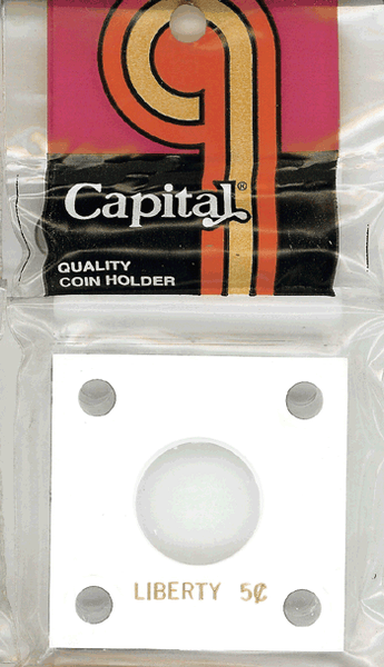 Capital Plastics 144 Coin Holder - Liberty 5c