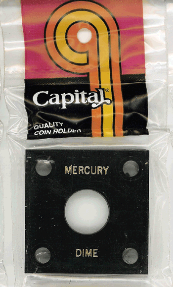 Capital Plastics 144 Coin Holder - Mercury Dime