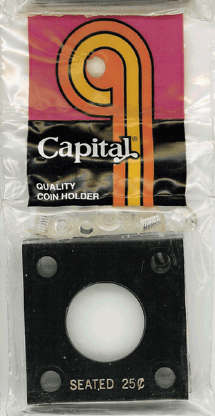 Capital Plastics 144 Coin Holder - Seated 25c