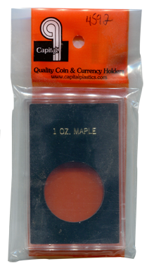 Capital Plastics Caps Coin Holder - 1 oz. Maple