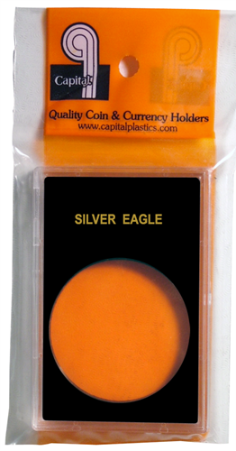 Capital Plastics Caps Coin Holder - 1 oz. Silver Eagle