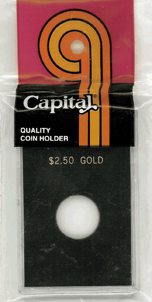Capital Plastics Caps Coin Holder - $2.50 Gold