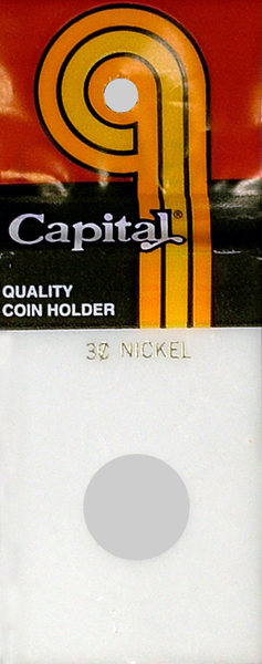 Capital Plastics Caps Coin Holder - 3 Cent Nickel