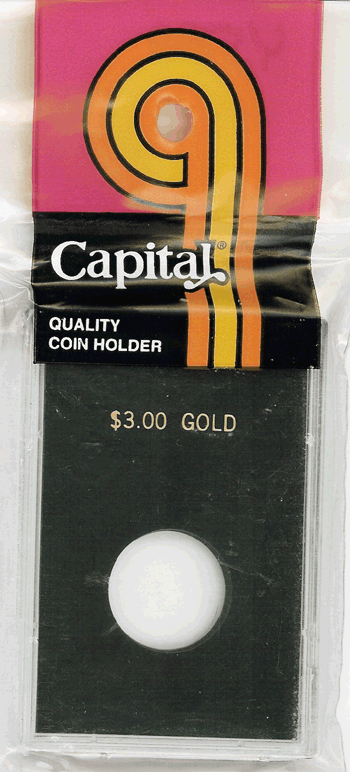 Capital Plastics Caps Coin Holder - $3.00 Gold
