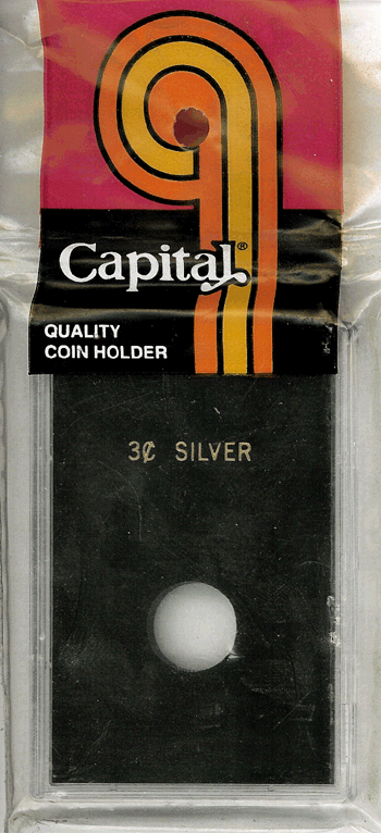Capital Plastics Caps Coin Holder - 3c Silver