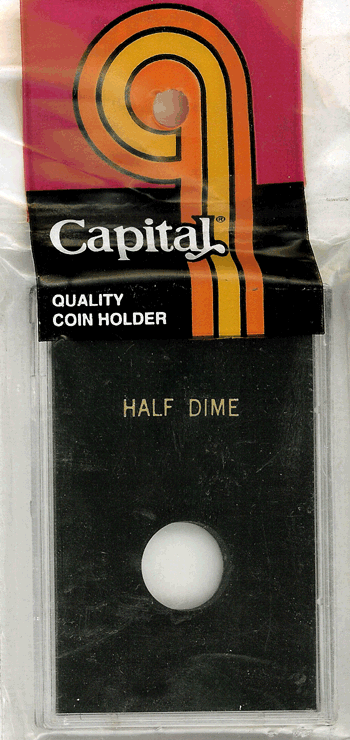Capital Plastics Caps Coin Holder - Half Dime