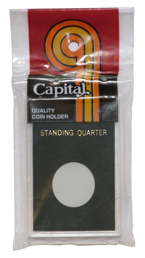 Capital Plastics Caps Coin Holder - Standing 25c