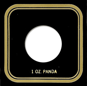 Capital Plastics VPX Coin Holder - 1 oz. Panda