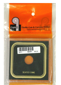Capital Plastics VPX Coin Holder - Seated Dime