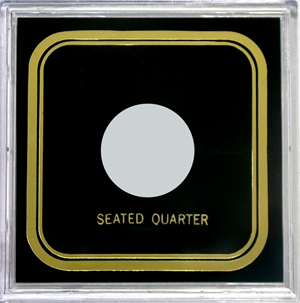 Capital Plastics VPX Coin Holder - Seated Quarter