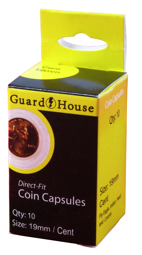 Cent (19mm) Direct-Fit Coin Capsules - 10 Pack