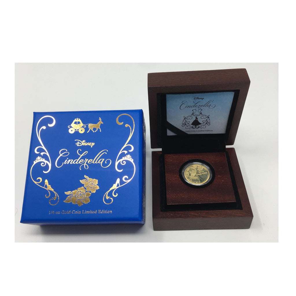 2015 $25 Gold 1/4 oz Disney Cinderella NIUE w Box and COA