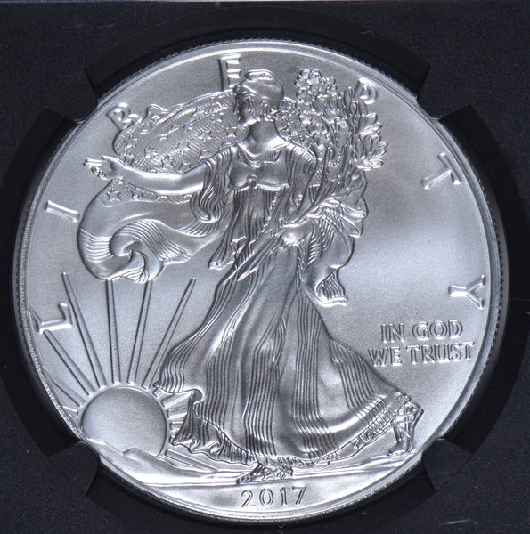 2017 American Silver Eagle One Dollar Mint State 70 # 4539136-115