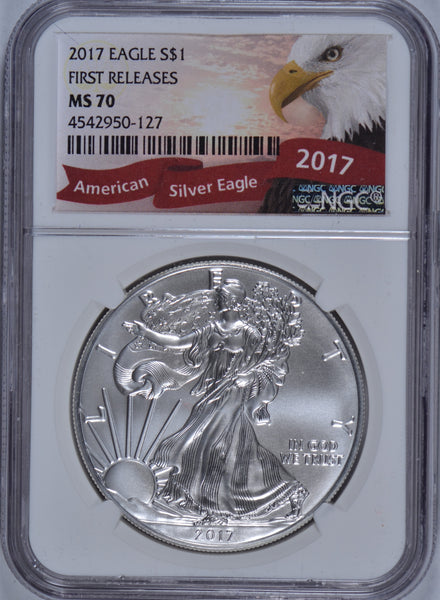 2017 1 oz American Silver Eagle NGC MS-70